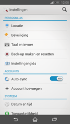 Sony Xperia Z3 4G (D6603) - Instellingen aanpassen - Fabrieksinstellingen terugzetten - Stap 4