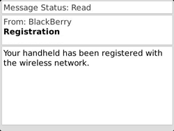 BlackBerry 9790 Bold - Settings - Configuration message received - Step 11