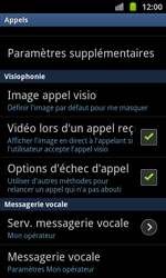 Samsung I8530 Galaxy Beam - Messagerie vocale - configuration manuelle - Étape 6