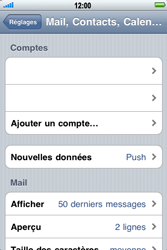 Apple iPhone 3G S - E-mail - Configurer l