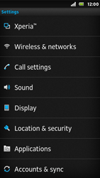 Sony ST25i Xperia U - Internet - Enable or disable - Step 4