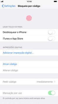 Apple iPhone 7 Plus iOS 11 - Segurança - Como ativar o código de bloqueio do ecrã -  4