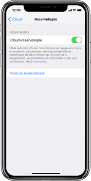 Apple iPhone X - Instellingen aanpassen - Back-up maken in je account - Stap 13