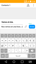 LG K4 (2017) - Mensajería - Escribir y enviar un mensaje multimedia - Paso 14