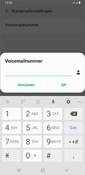 Samsung galaxy-a6-plus-sm-a605fn-ds-android-pie - Voicemail - Handmatig instellen - Stap 10