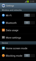 Samsung I8730 Galaxy Express - Internet - Enable or disable - Step 4
