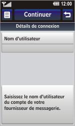 LG GC900 Viewty Smart - E-mail - Configuration manuelle - Étape 10