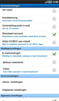 Samsung P1000 Galaxy Tab - E-mail - Instellingen KPNMail controleren - Stap 20