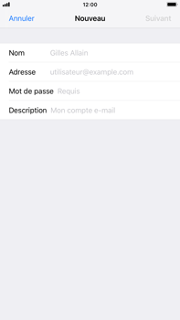 Apple iPhone 7 Plus - iOS 12 - E-mail - Configuration manuelle - Étape 7