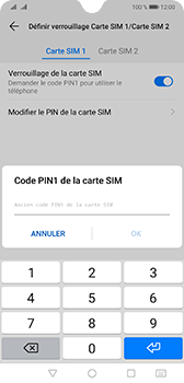 Huawei Mate 20 - Sécurité - modifier SIM PIN - Étape 9