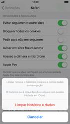 Apple iPhone 8 - Dados - Como limpar cookies/cache/histórico -  5