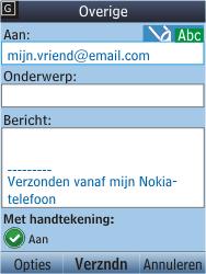 Nokia C2-05 - E-mail - E-mail versturen - Stap 9
