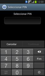 Samsung Galaxy Fresh Duos - Segurança - Como ativar o código de bloqueio do ecrã -  7