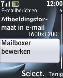 Nokia 2330 classic - E-mail - Handmatig instellen - Stap 7