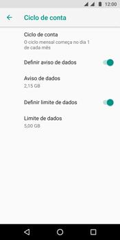 Motorola Moto G6 Plus - Rede móvel - Como definir um aviso e limite de uso de dados - Etapa 15