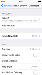 Apple iPhone 5s - iOS 8 - Email - 032b. Email wizard - Yahoo - Step 10