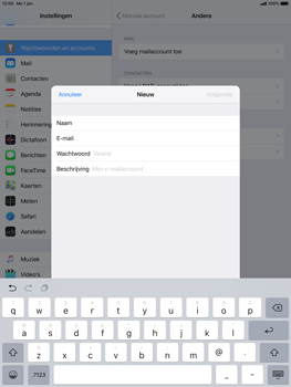 Apple ipad-pro-10-5-inch-ios-12 - E-mail - Account instellen (IMAP met SMTP-verificatie) - Stap 8