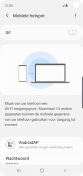 Samsung galaxy-s10e-dual-sim-sm-g970f - WiFi - Mobiele hotspot instellen - Stap 12