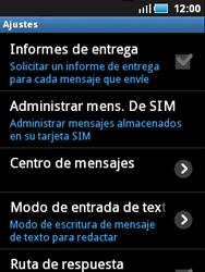 Samsung S5570 Galaxy Mini - Mensajería - Configurar el equipo para mensajes de texto - Paso 4