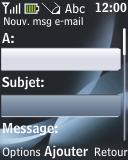 Nokia 2330 classic - E-mail - envoyer un e-mail - Étape 5