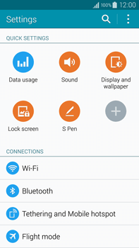 Samsung N910F Galaxy Note 4 - WiFi and Bluetooth - Manual configuration - Step 4