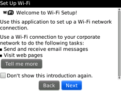 BlackBerry 9300 Curve 3G - WiFi and Bluetooth - Manual configuration - Step 5