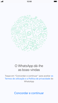 Apple iPhone 6s Plus - iOS 11 - Aplicações - Como configurar o WhatsApp -  7