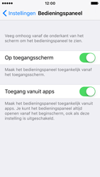 Apple iPhone SE - iOS 10 - iOS features - Bedieningspaneel - Stap 4