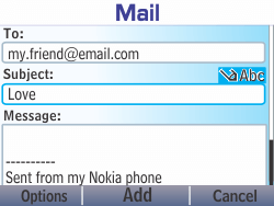Nokia Asha 210 - Email - Sending an email message - Step 11