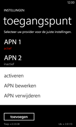 Nokia Lumia 720 - Internet - Handmatig instellen - Stap 20