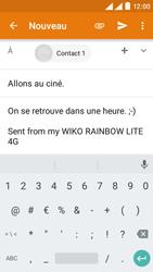 Wiko Rainbow Lite 4G - E-mails - Envoyer un e-mail - Étape 9