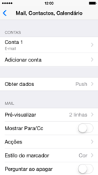 Apple iPhone 5s iOS 8 - Email - Configurar a conta de Email -  15