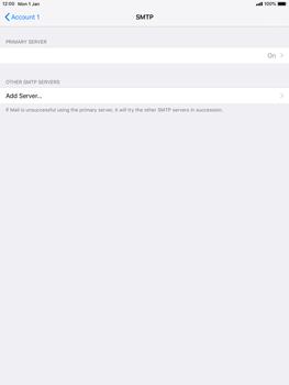 Apple iPad mini 4 iOS 12 - E-mail - Manual configuration POP3 with SMTP verification - Step 18
