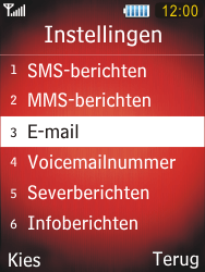 Samsung S5550 Chester - E-mail - Handmatig instellen - Stap 6