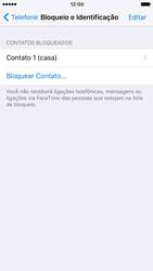 Apple iPhone iOS 10 - Chamadas - Como bloquear chamadas de um número específico - Etapa 8