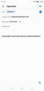 Huawei P20 Pro - E-mail - e-mail versturen - Stap 6