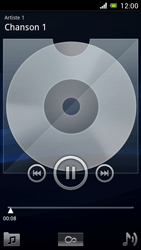 Sony Ericsson Xpéria Arc - Photos, vidéos, musique - Ecouter de la musique - Étape 7