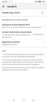 Huawei Mate 20 Pro - Internet - comment configurer un point d'accès mobile - Étape 6