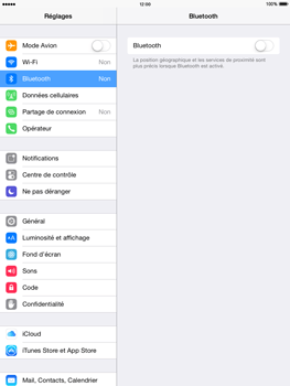 Apple iPad Air iOS 8 - Bluetooth - connexion Bluetooth - Étape 6