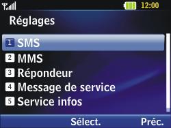 LG C320 InTouch Lady - SMS - Configuration manuelle - Étape 5