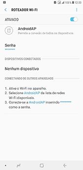 Samsung Galaxy J8 - Wi-Fi - Como usar seu aparelho como um roteador de rede wi-fi - Etapa 12