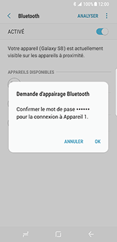 Samsung Galaxy S8 - Bluetooth - connexion Bluetooth - Étape 10