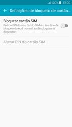 Samsung Galaxy J5 - Segurança - Como ativar o código PIN do cartão de telemóvel -  7