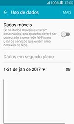 Samsung Galaxy J1 - Rede móvel - Como ativar e desativar uma rede de dados - Etapa 6