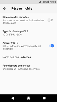 Sony Xperia XA2 Ultra - Internet et connexion - Activer la 4G - Étape 8