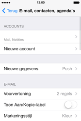 Apple iPhone 4 iOS 7 - E-mail - Account instellen (IMAP zonder SMTP-verificatie) - Stap 27