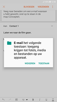 Samsung Galaxy J4 - E-mail - hoe te versturen - Stap 12