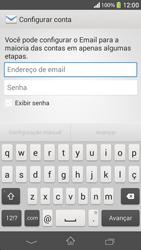 Sony C5303 Xperia SP - Email - Como configurar seu celular para receber e enviar e-mails - Etapa 5