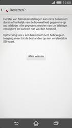 Sony Xperia Z2 4G (D6503) - Instellingen aanpassen - Fabrieksinstellingen terugzetten - Stap 7