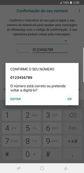 Samsung Galaxy Note9 - Aplicações - Como configurar o WhatsApp -  10